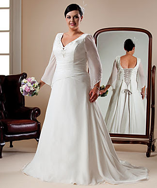 plus-size wedding gown