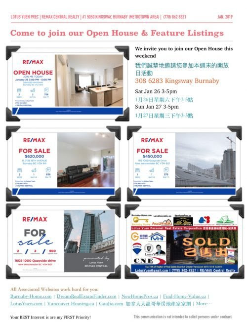 Burnaby Real Estate Newsletters - Jan2019
