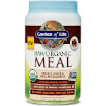 Garden of Life Raw Organic Meal Shake Powder, Chocolate Cacao - 35.9 oz canister