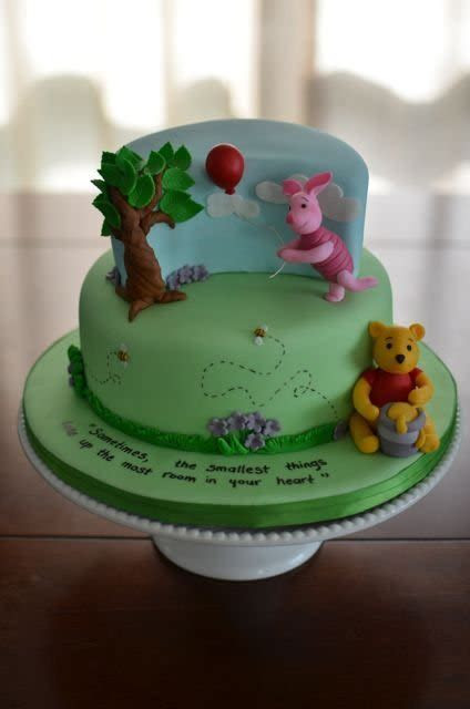 Winnie the Pooh baby shower cake   cake by Hello, Sugar