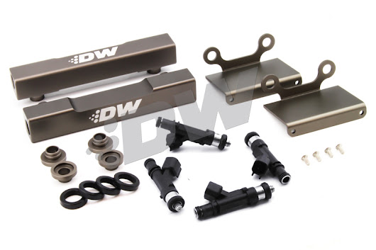 Deatschwerks DW Subaru GDB Side Feed To Top Feed Kit 1000cc Injectors