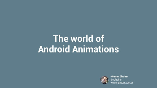 The world of Android Animations