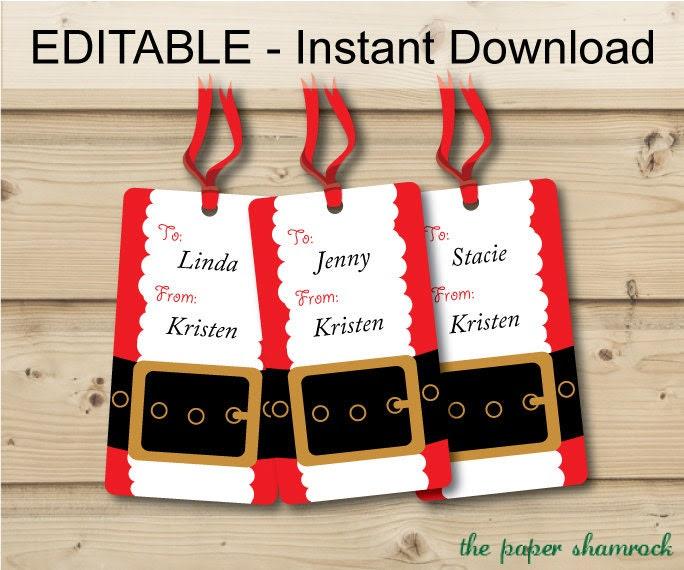 Christmas Gift tags Holiday Gift Tags Christmas Tags Hang | Etsy