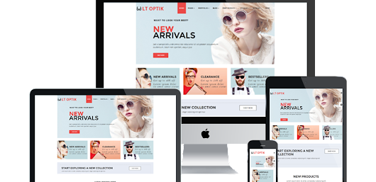 Sunglasses WordPress Theme - LT Optik