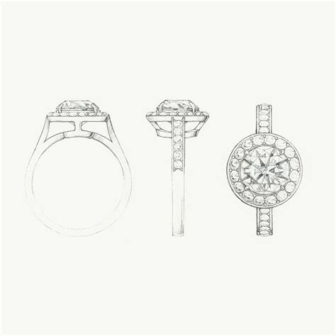 sketch   tiffany embrace diamond engagement ring