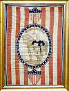 Framed George Washington banner.