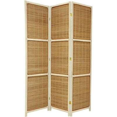 Oriental Furniture Mado Traditional Asian Room Divider in Honey ...