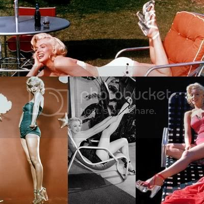 Marilyn Monroe clear lucite strappy shoes