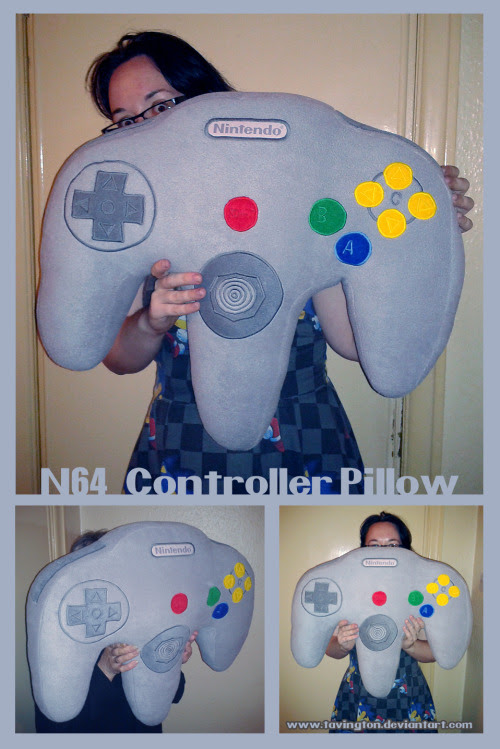 N64 Controller Pillow Created by Donna Marie Evans