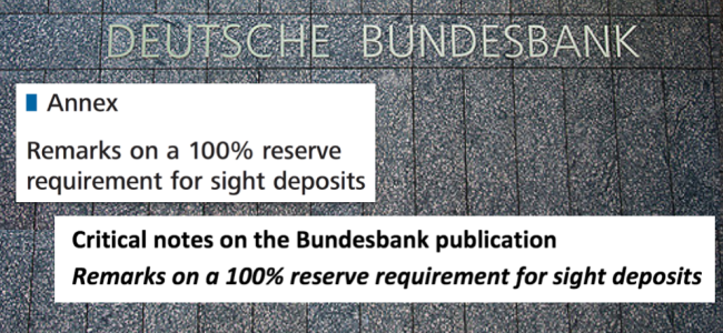 bundesbank 100% reserve sovereign money