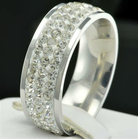New Eternity Stainless Steel CZ Women Wedding Anniversary