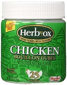 Amazon.com : Herb-Ox Bouillon Cubes Chicken Bouillon 25 Ct ...