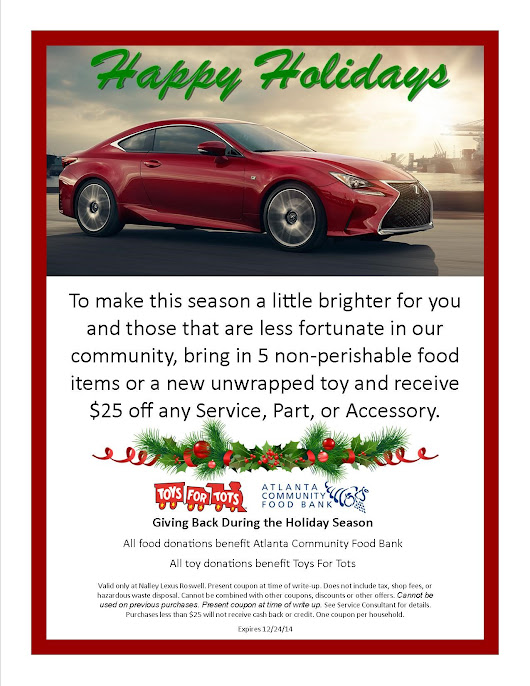 Nalley Lexus Roswell Supporting Toys For Tots And The Atlanta - Nalley lexus service coupons