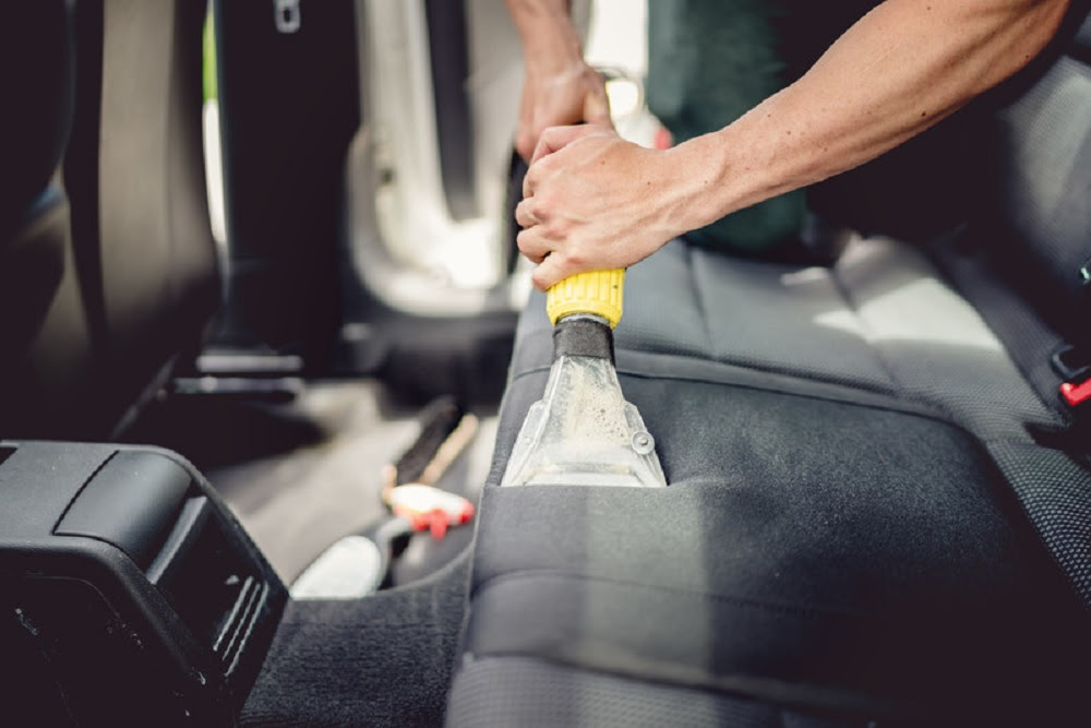 cleaning the car seats