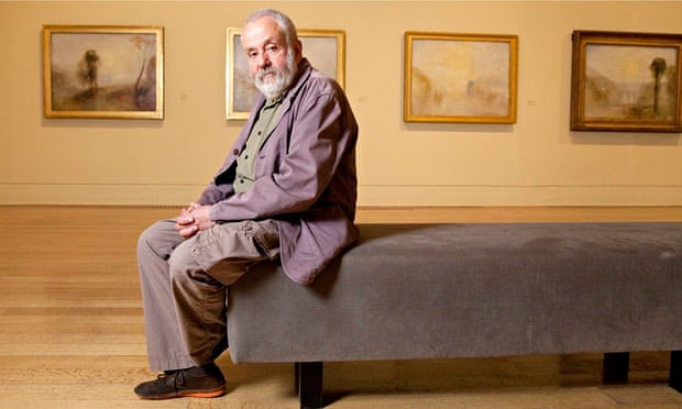 Mike Leigh at the Late Turner exhibition at Tate Britain.