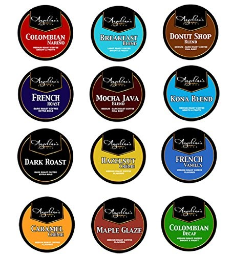 100ct Angelino's Coffee Variety Pack for Keurig K-Cup Coffee Brewers, 12 Assorted Single Cup Sampler...