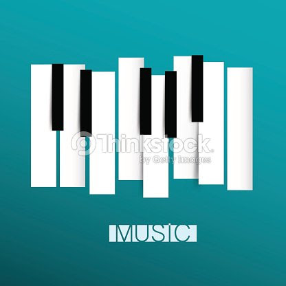 Símbolo De La Música Con Piano Teclados Arte Vectorial Thinkstock