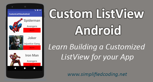 Custom ListView Android - Building Custom ListView with Images