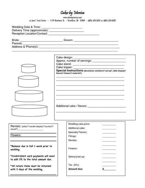 Cake Order Form DOC cakepins.com:   Cake   Pinterest
