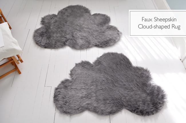 DIY faux sheepskin rug