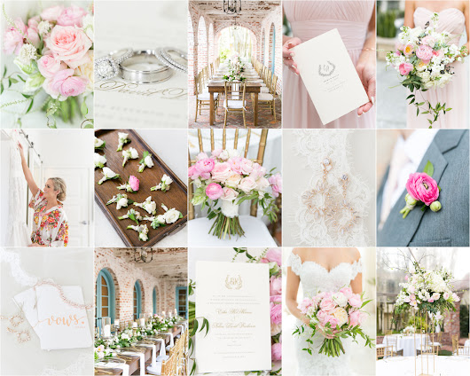 Blush and coral details | Casa Feliz wedding | Erika & Nolan