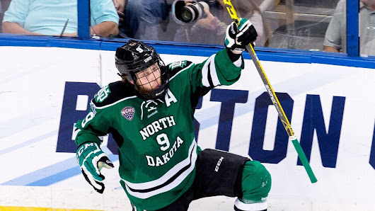 North Dakota Fighting Hawks beat Quinnipiac Bobcats for 8th NCAA hockey title