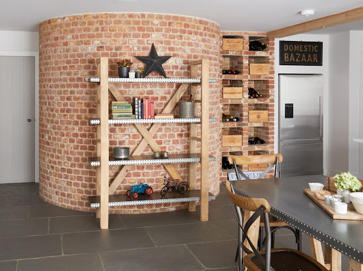 Handmade Large Open Bookcase from the New Kuba Range of Furniture