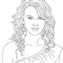 Taylor Swift Coloring Pages Hellokidscom