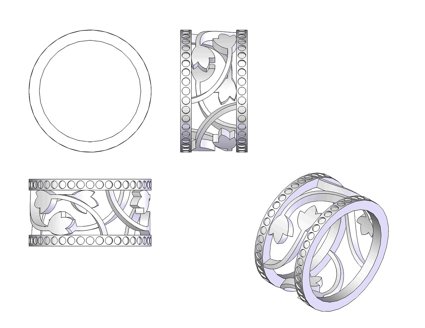 Michelle's Dream Pave Floral Wedding Ring Design photo MichelleRing1_zps40603694.jpg