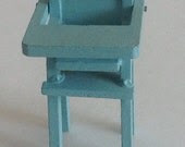 Vintage Blue Highchair Made by Dol-Toi England - sinderellasattic