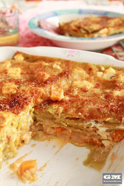 Lasagne con zucca e feta