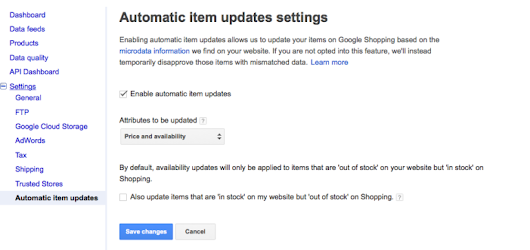 Automatic Item Updates Available on Google | PPC Hero®