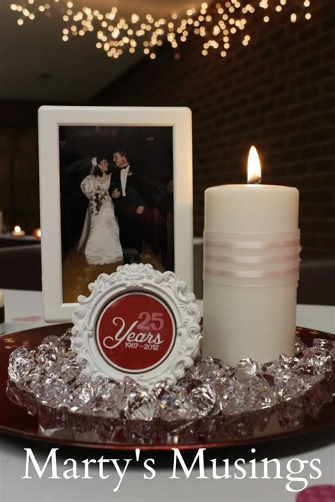 25th wedding anniversary decorations: Thrifty and easy