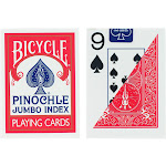 Bicycle 1001023 Bicycle Jumbo Pinochle Playing Cards -PACK 2