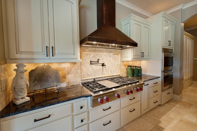 Stone 2011 Tour House Travertine - Traditional - Kitchen ...