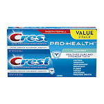 Crest Pro Health Clean Mint Toothpaste 4.6 Oz Value pack, 2 pack