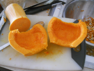 Cleaned Out Butternut Squash