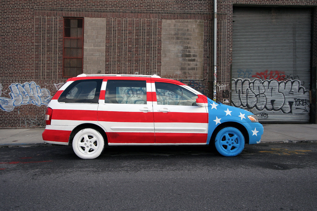 Star Spangled minivan