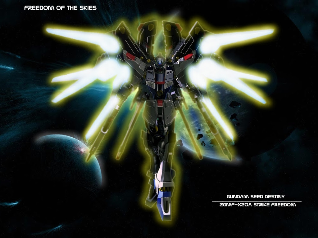 Mobile Suit Gundam Seed Destiny Wallpaper Freedom Of The Skies