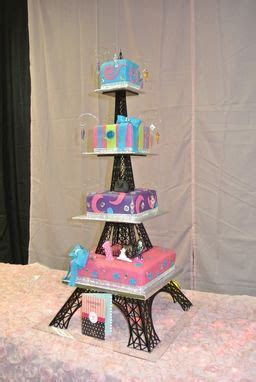Buy a Hand Crafted Acrylic Eiffel Tower Cake Stand, made