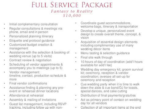 wedding planner prices packages   Wedding Decor Ideas