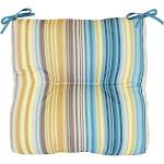 Commonwealth Home Fashions Mosaic Stripe Outdoor Arm Chair Cushion
