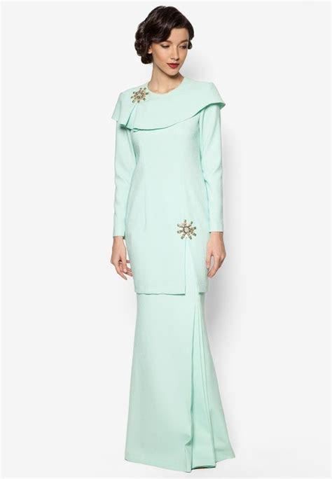 kaila baju kurung  jovian mandagie  zalora  green