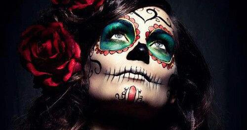 Genial Maquillaje De Catrinas Con Tatuajes Temporales Catrinas10