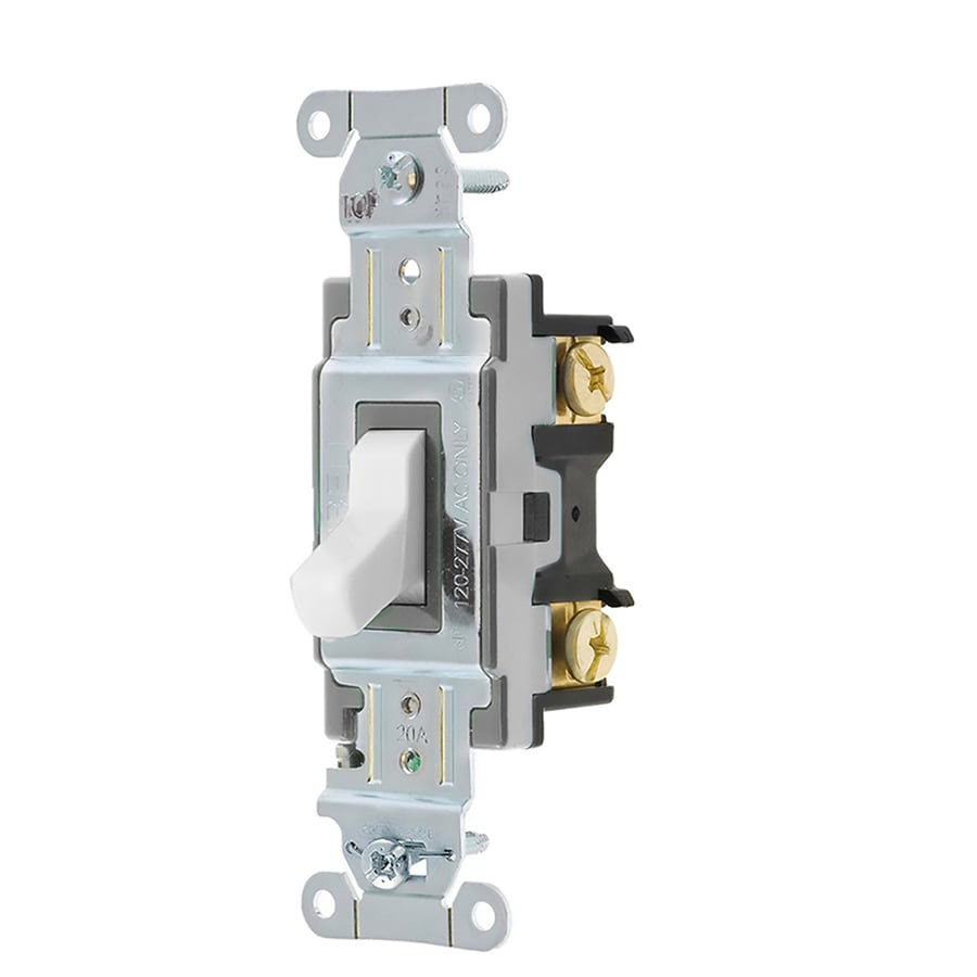 Hubbell 15 20 Amp 3 Way White Toggle Light Switch In The Light Switches Department At Lowes Com