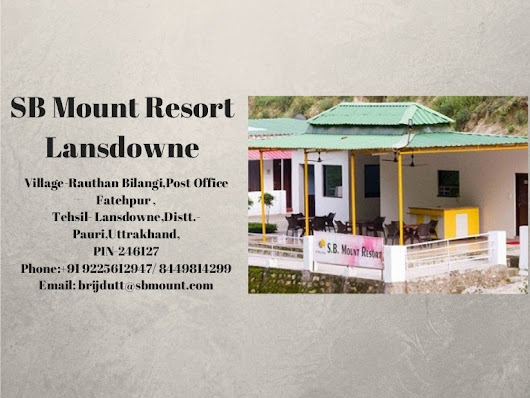 Best Luxury Resort In Lansdowne Uttarakhand