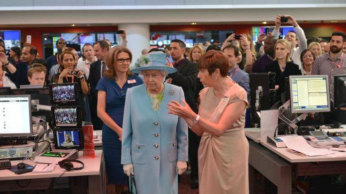 Nữ Hoàng Anh thăm BBC.