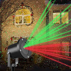 Christmas Laser Light Projector by Gideon Rotating LED Holiday Laser Projection Show Remote Control Outdoor Weather-Proof Sparkling Red and Green