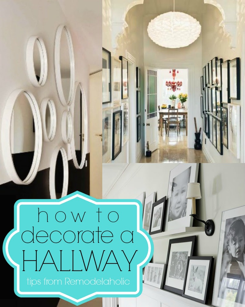 Remodelaholic | 15 Ways To Decorate A Hallway + Link Party