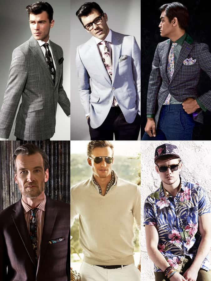 Men's Floral Print Lookbook